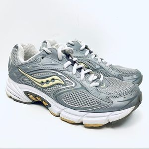 Saucony Grid Cohesion NX Silver Sneakers Sz 6.5